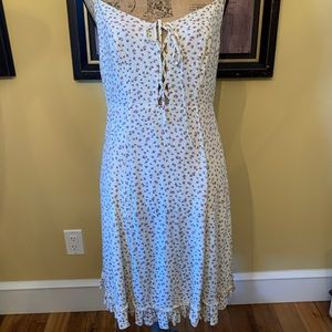 Denim & Supply Floral Rayon tie front Dress